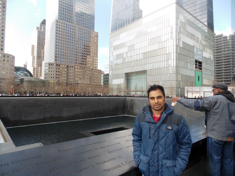 At Ground Zero Twin Tower, NY, USA (2016)